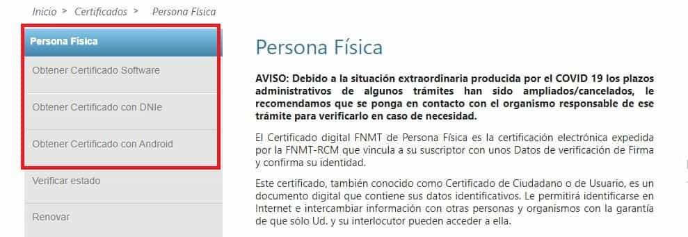 certificado fnmt personas fisicas