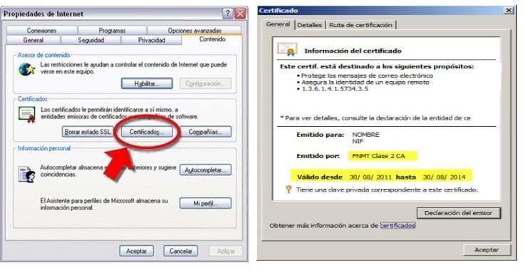 comprobar fecha certificado fnmt