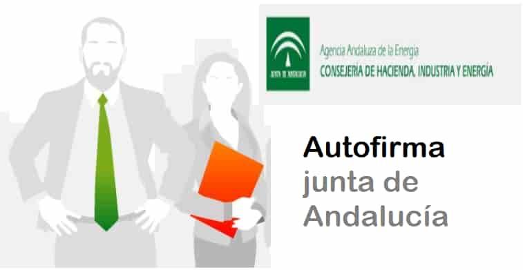 Autofirma en junta de Andalucía