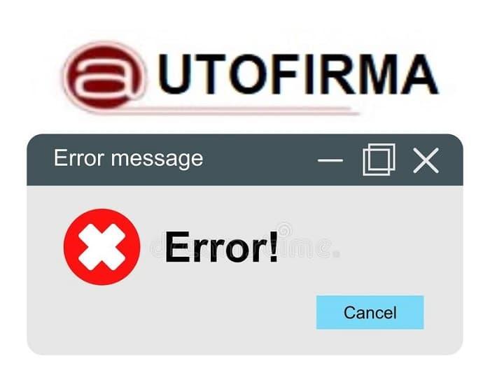 Códigos de error autofirma