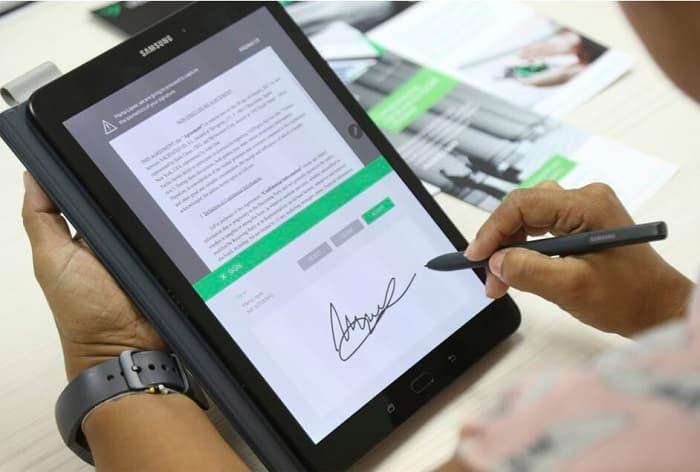 Como firmar documentos en una Tablet