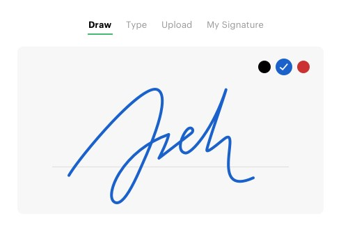 Firmar digitalmente con app Online Signature